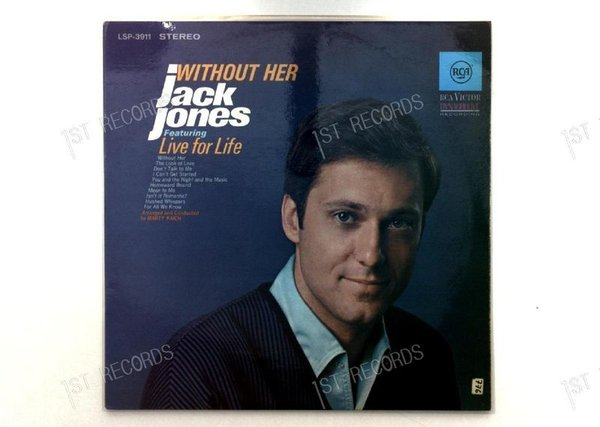 Jack Jones - Without Her GER LP (VG+/VG+)