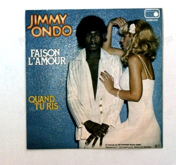 Jimmy Ondo - Faisons L'Amour / Quand Tu Ris GER 7in 1977 (VG/VG+)