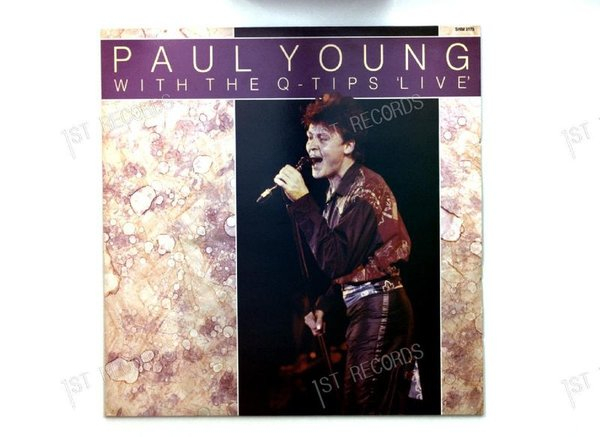 Paul Young With The >>Q-Tips<< - Paul Young With The Q-Tips Live UK LP (VG+/VG+)