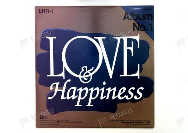 Various - Love And Happiness - Album No. 1 US LP 1989 (VG+/VG+)