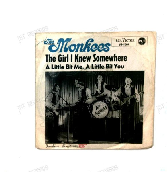 The Monkees - The Girl I Knew Somewhere GER 7in 1967 Mono (VG/VG-)