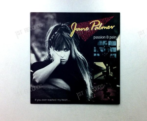 Jane Palmer - Passion And Pain  GER 7in 1987 (VG+/VG+)