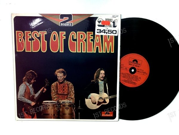 Cream - Best Of Cream FRA 2LP 1973 FOC (VG+/VG+)