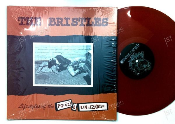 The Bristles - Lifestyles Of The Poor & Unknown US red LP 1997 FOC +Innerbag (VG+/NM)