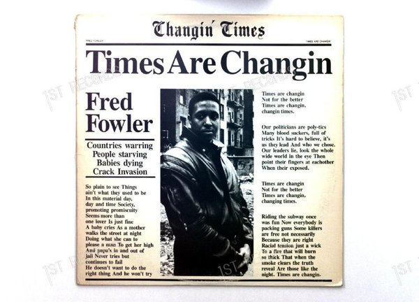 Fred Fowler - Times Are Changin' US Maxi 1988 (VG+/VG)