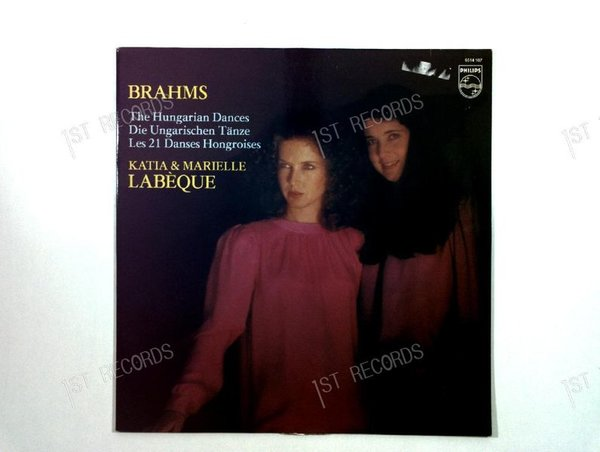 Brahms - Katia & Marielle Labèque - The Hungarian Dances NL LP 1981 (VG+/VG)