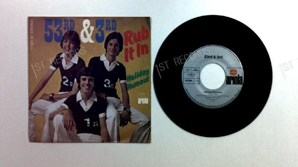 53rd & 3rd - Rub It In! GER 7in 1976 Rare German PS (VG+/VG+)