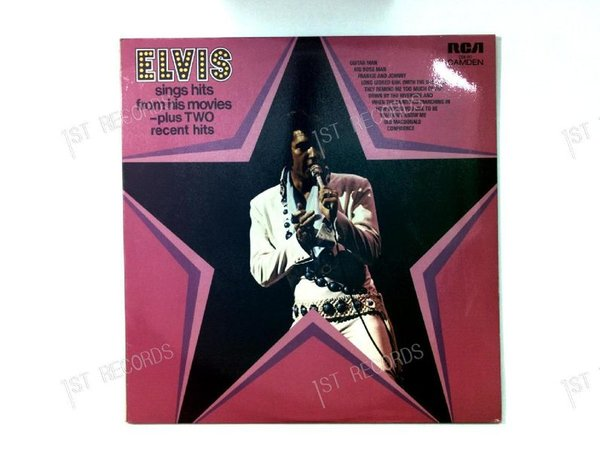 Elvis Presley - Elvis Sings Hits From His Movies UK LP1972 (VG+/VG+)