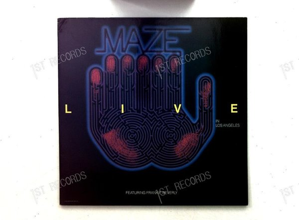 Maze Featuring Frankie Beverly -Live In Los Angeles Europe 2LP 1986 FOC (VG+/VG)