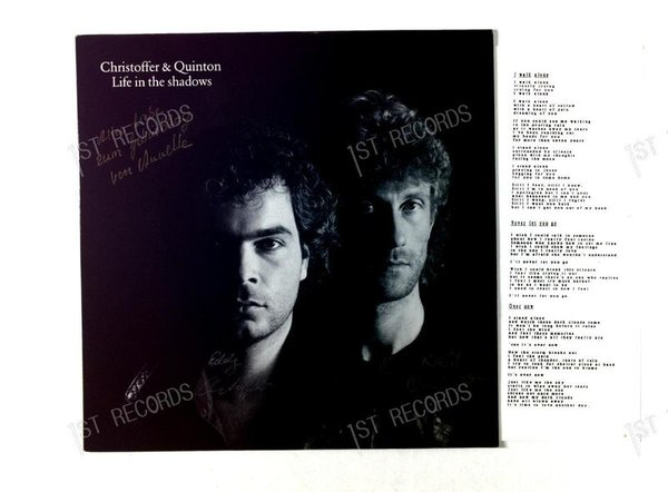 Christoffer & Quinton - Life In The Shadows GER LP 1989 + Insert (VG+/VG+)