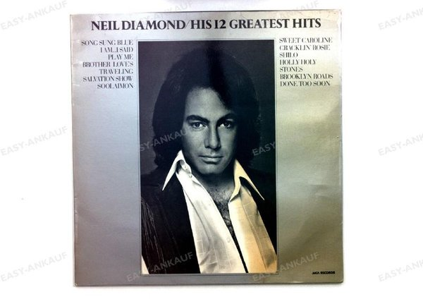 Neil Diamond - His 12 Greatest Hits GER LP 1974 (VG/VG)