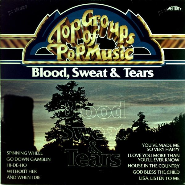 Blood, Sweat And Tears - Top Groups of Pop Music LP 1981 (VG+/VG) (VG+/VG)