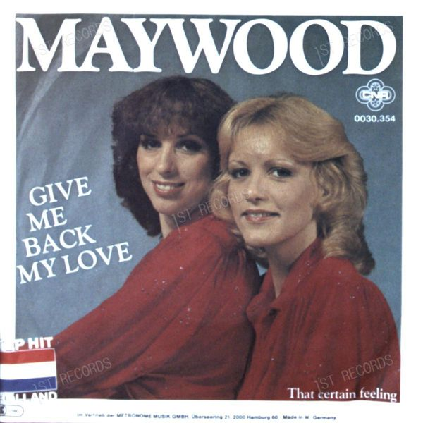 Maywood - Give Me Back My Love 7in 1980 (VG/VG) (VG/VG)