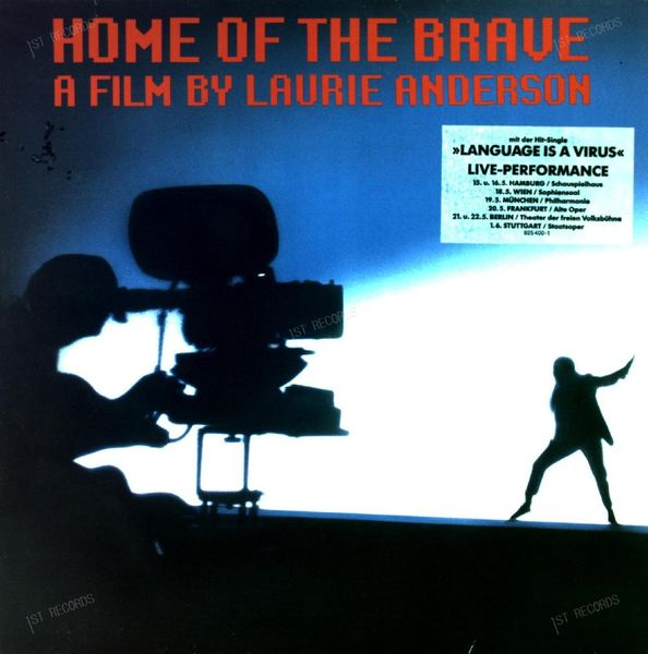 Laurie Anderson - Home Of The Brave LP 1986 (VG+/VG+) (VG+/VG+)