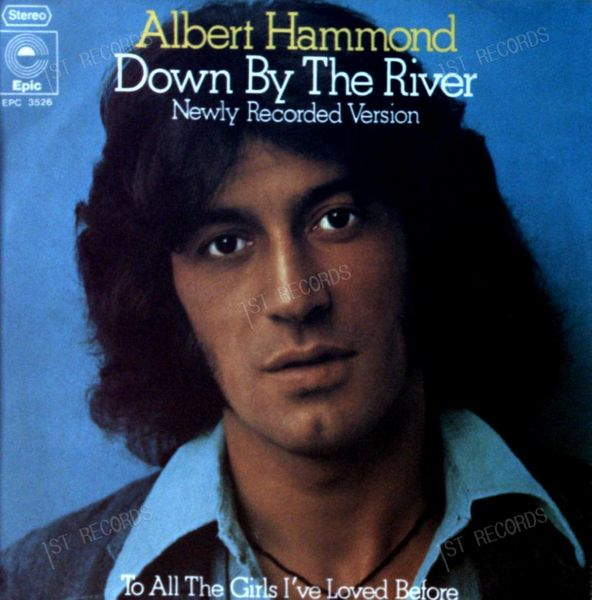 Albert Hammond - Down By The River - Newly Recorded Version 7in 1975 (VG/VG)