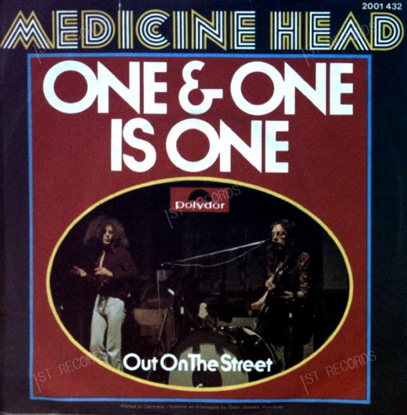 Medicine Head - One & One Is One GER 7in 1973 (VG/VG) (VG/VG)