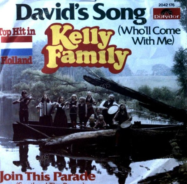 Kelly Family - David's Song (Who'll Come With Me) GER 7in 1980 (VG+/VG)