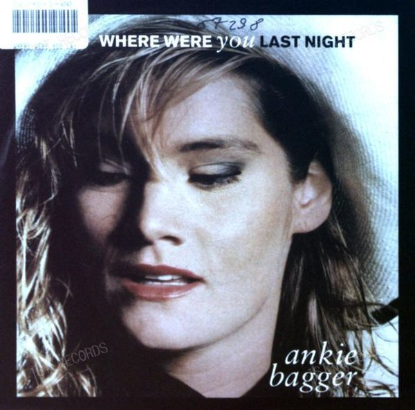 Ankie Bagger - Where Were You Last Night GER 7in 1990 (VG+/VG+) (VG+/VG+)