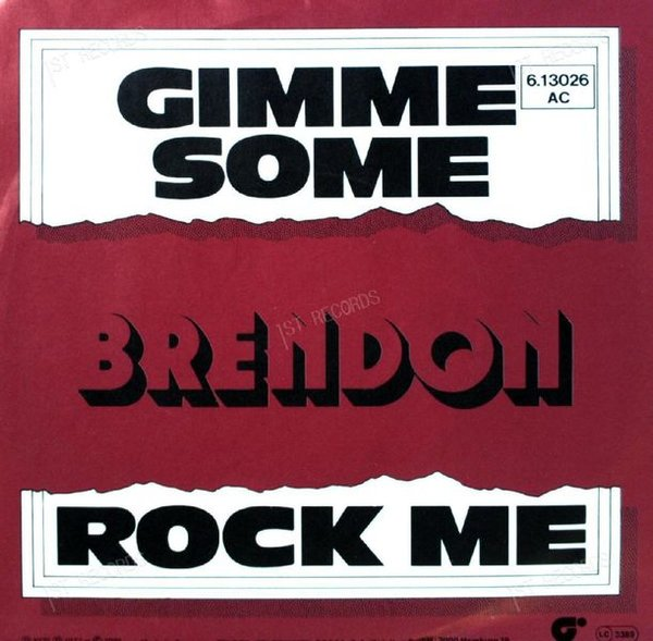 Brendon - Gimme Some 7in 1976 (VG+/VG+) (VG+/VG+)