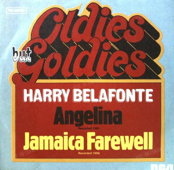 Harry Belafonte - Angelina / Jamaica Farewell 7in 1977 (VG+/VG+) (VG+/VG+)