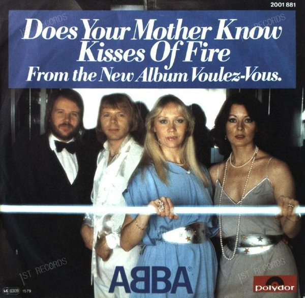 ABBA - Does Your Mother Know / Kisses Of Fire 7in 1979 (VG/VG)