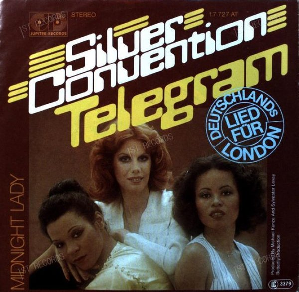 Silver Convention - Telegram / Midnight Lady 7in 1977 (VG+/VG+)