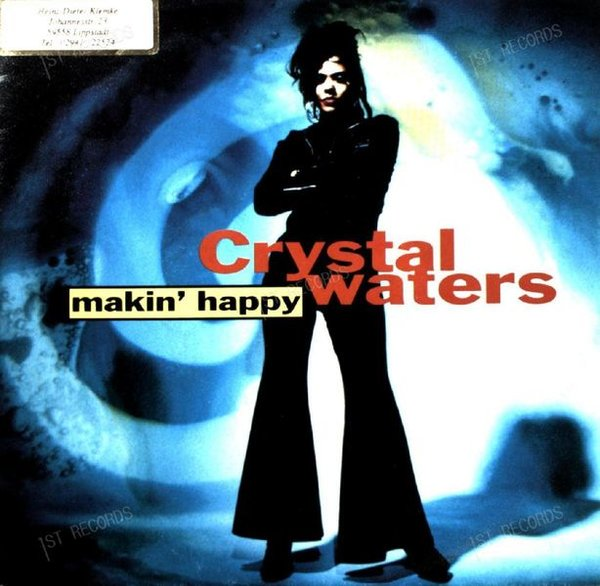 Crystal Waters - Makin' Happy 7in 1991 (VG+/VG+)