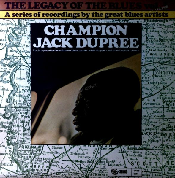 Champion Jack Dupree - The Legacy Of The Blues Vol. 3. UK LP 1971 (VG+/VG+)