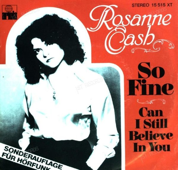 Rosanne Cash - So Fine 7in 1978 (VG+/VG)