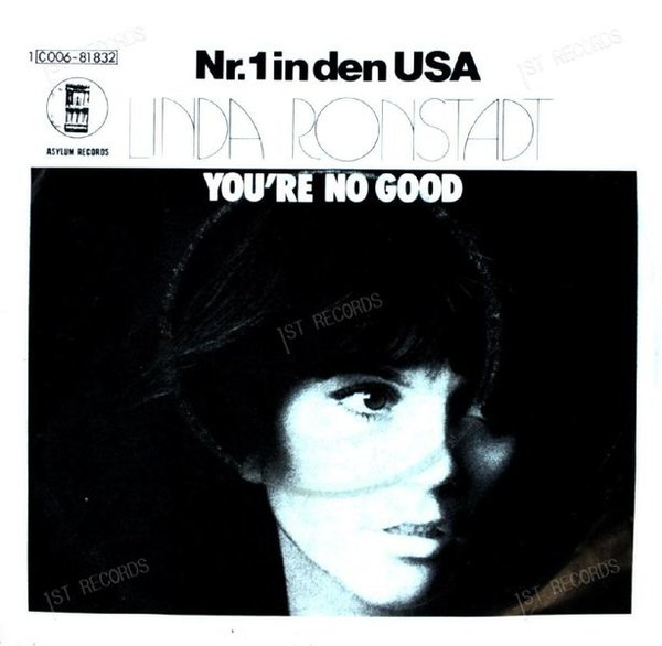 Linda Ronstadt - You're No Good / I Can't Help It 7in 1974 (VG/VG)