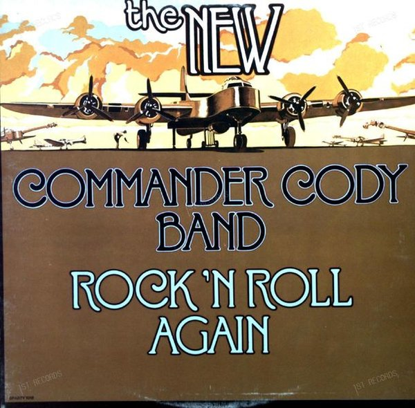 The New Commander Cody Band - Rock 'N Roll Again LP 1977 (VG/VG)