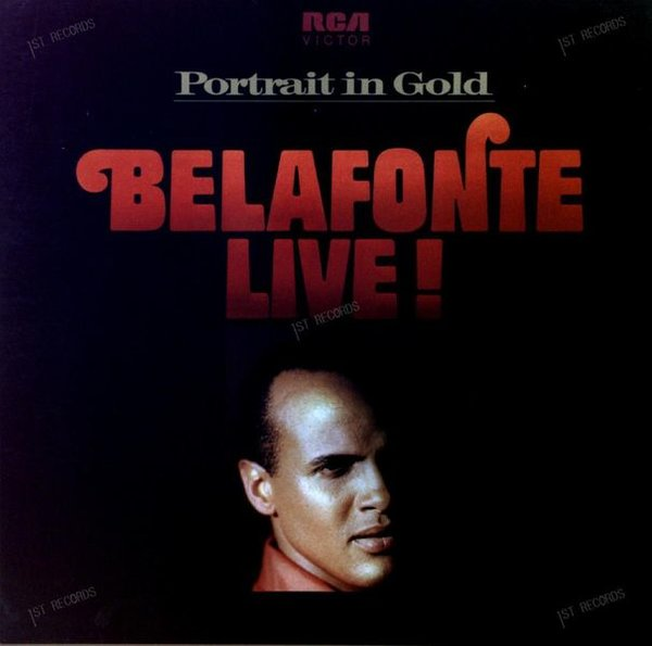 Harry Belafonte - Belafonte Live! Portrait in Gold 2LP (VG/VG)